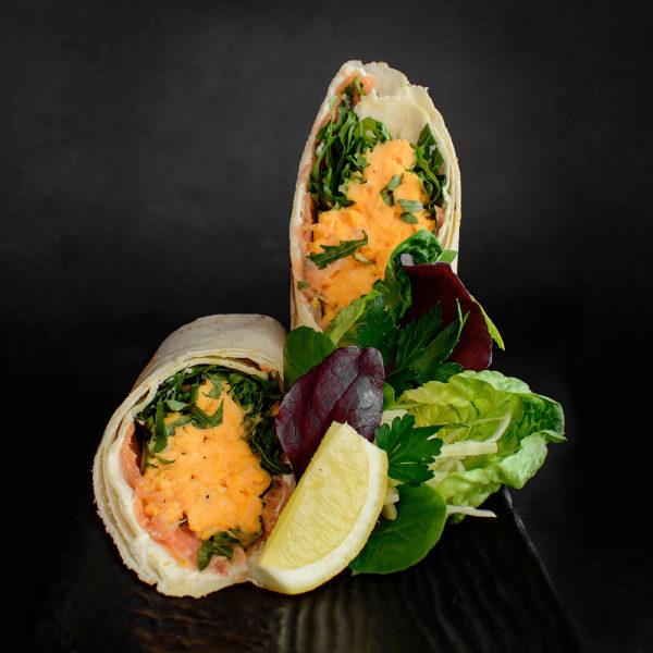 Scrambled Eggs & Smoked Salmon Wrap